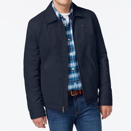 【Tommy Hilfiger】2017男時尚絎縫襯裡深藍色拉鍊外套【預購】