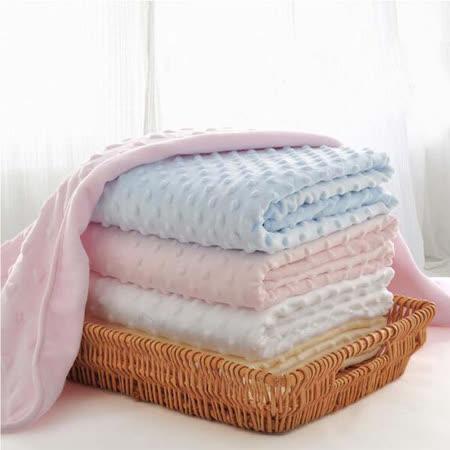 包巾婴儿被泡泡毯 透气亲肤毛毯盖毯【两入】