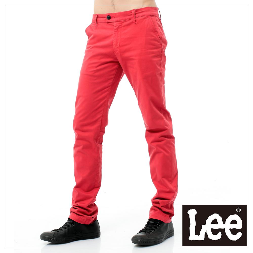 Lee 休閒褲 素面色褲-男款(紅)
