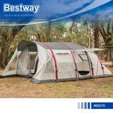【Bestway】68079充氣式六人隧道帳篷.PAVILLO登山露營前庭遮陽充氣式戶外防風水透氣蟲蛹家庭客廳帳