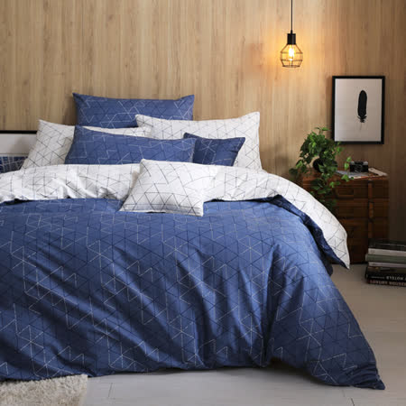 GOLDEN-TIME-导航中的梦-100%纯棉-两用被床包组(加大)