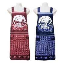 史努比SNOOPY兩口袋圍裙HB503花-藍紅二入任組