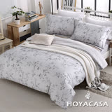 《HOYACASA花雨紛飛》 雙人四件式天絲全舖棉兩用被床包組