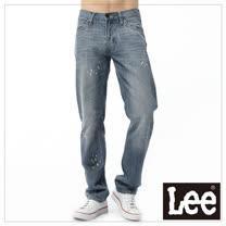 Lee 牛仔褲 760 低腰舒適窄腳-男款(淺漂汙漬)