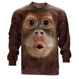 【摩達客】(現貨) 美國進口The Mountain 可愛猩猩臉 純棉長袖T恤
