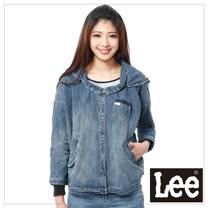 Lee 長袖外套 不規則牛仔可拆連 -女款(藍)