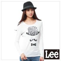Lee 長袖T恤 趣味印刷-女款(米白)