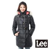 Lee 羽絨外套 連帽連身防風 -女款(黑)