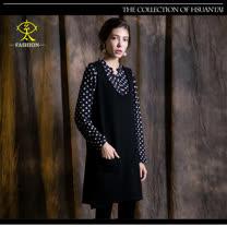 玄太-摩登圓領背心洋裝(黑)
