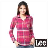 Lee 長袖襯衫 保暖法蘭絨-女款(桃格紋)