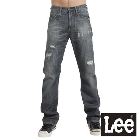 Lee 727 中腰標準直筒牛仔褲-男款(中古藍)