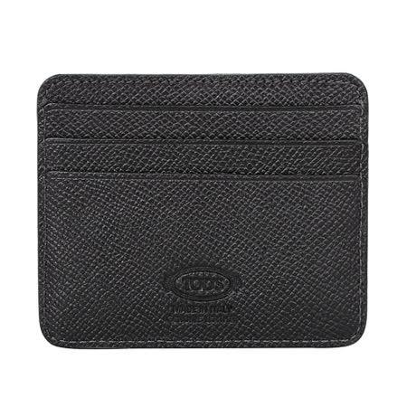 TOD'S- 簡約皮革名片卡夾(黑)