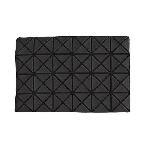 ISSEY MIYAKE BAOBAO幾何方格4x6萬用卡片袋 深灰  霧面