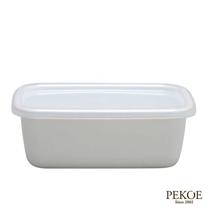 野田琺瑯-White Series系列長型保存盒(0.85L)