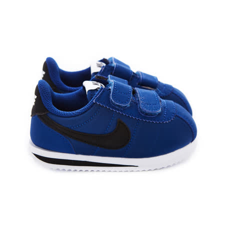 NIKE 童鞋 經典復古鞋 CORTEZ BASIC NYLON (TDV) 藍-904763402