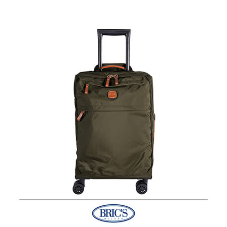 《Traveler Station》BRIC\'S 意大利小牛皮 防泼水 布面 轻量 20吋 登机箱 行李箱
