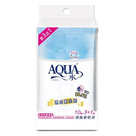 AQUA水<br/>濕式衛生紙10抽x72包