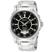 SEIKO Premier 萬年曆時尚腕錶(6A32-00R0D/SNQ103J1)