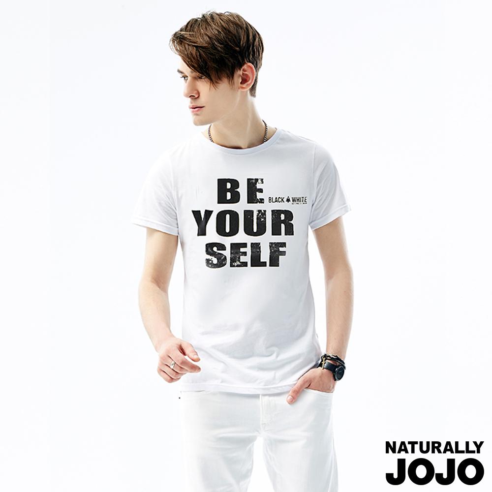 ~NATURALLY JOJO~Black  White Voice T~shirt~為己