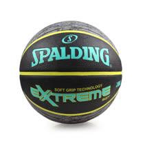 SPALDING SGT-RUBBER 籃球-7號球 斯伯丁 黑湖水綠 F