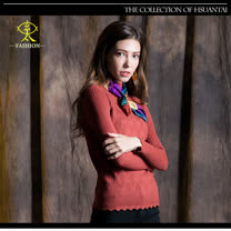 玄太-造型高領內搭針織毛衣(紅)