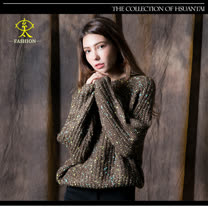 玄太-多彩配色針織毛衣(綠)