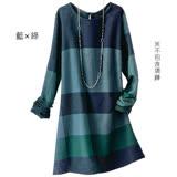 日本預購-portcros配色格紋造型袖口刷毛長版上衣(共二色/M-3L)
