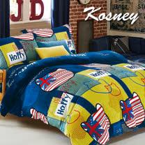 《KOSNEY  夢巴拉》頂級法蘭絨加大四件式兩用被套床包組