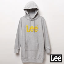 Lee 長版大LOGO帽Tee-女款-灰
