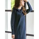 日本ANNA LUNA 預購-扭結造型高領針織長版上衣(共四色/M-3L)