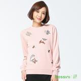 bossini女裝-印花厚棉運動衫13玫瑰色