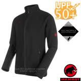 【瑞士 MAMMUT 長毛象】男新款 Yadkin ML 彈性保暖刷毛外套.休閒夾克/TecnoPile保暖面料.抗紫外線UPF 50+/24960-0001 黑
