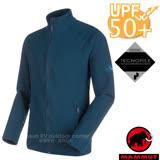 【瑞士 MAMMUT 長毛象】男新款 Yadkin ML 彈性保暖刷毛外套.休閒夾克/TecnoPile保暖面料.抗紫外線UPF 50+/24960-5118 海洋藍