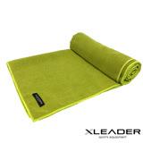 Leader X 超細纖維吸汗止滑瑜珈鋪巾 綠色-特賣