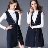 【麗質達人中大碼】7431藍色背心洋裝(XL-5XL)