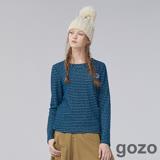 gozo 活力色彩幾何繡布徽章長袖上衣 (二色)