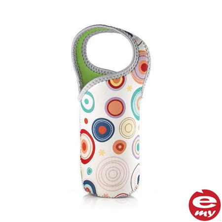 【義大利 e-my】時尚點點Jolly防水保冰溫水瓶提袋-2入組