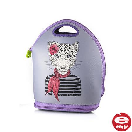 【義大利 e-my】時尚豹女郎 i-Vogue 保冰溫餐墊提袋