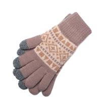 貝柔 雙層針織觸控手套 民族咖啡 鞋全家福