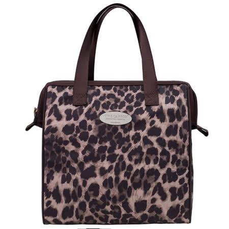 卡蘿保溫保冷餐袋(L)-時尚豹紋