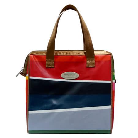 卡蘿保溫保冷餐袋(L)-彩虹