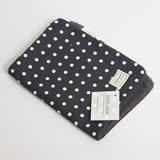西班牙 Minicoton 純棉嬰兒用保潔墊/拍嗝巾_黑底白點 (MCPS004)