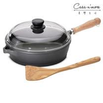 Berndes寶迪 木柄不沾平底深鍋+蓋28cm+ Scanwood 橄欖木鍋鏟27cm