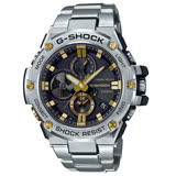 【CASIO 卡西歐】G-SHOCK/G-STEEL系列智慧藍牙連線時尚腕錶-GST-B100D-1A9