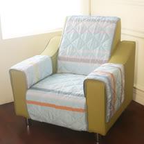 [HomeBeauty]恆溫天絲沙發保潔墊-1人座-七彩夢