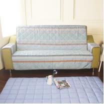[HomeBeauty]恆溫天絲沙發保潔墊-3人座-七彩夢