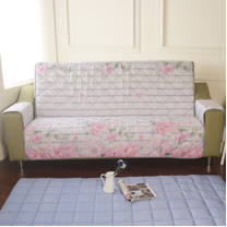 [HomeBeauty]恆溫天絲沙發保潔墊-3人座-清露