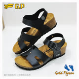 【G.P 休閒個性柏肯鞋】W785-10 黑色 (SIZE:35-39 共二色)