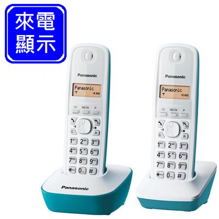 《Panasonic》 DECT國際牌數位式無線雙子機電話 KX-TG1612 (湖水藍)