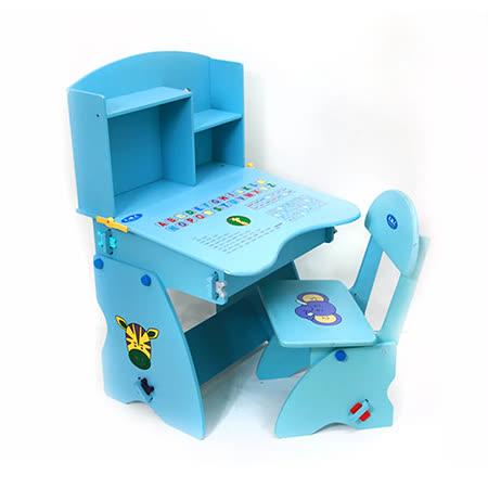 木質升降兒童成長學習書桌椅